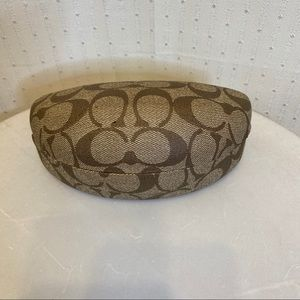 Coach clamshell glasses case